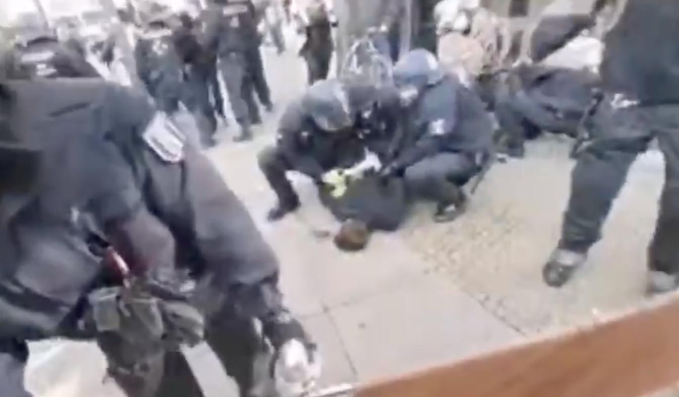 Exklusives Videomaterial zur Verhaftung von Rechtsanwalt Haintz in Berlin