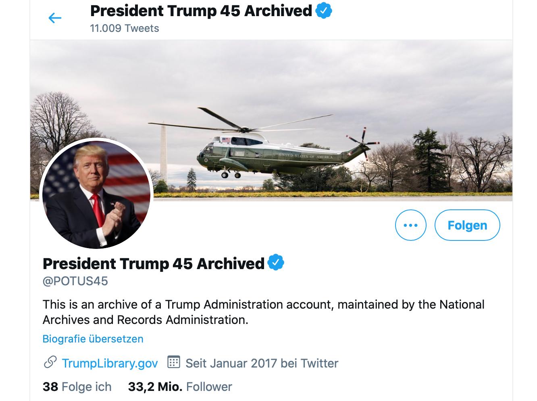 Twitter schaltet Trumpprofil wieder frei aber…