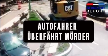 Autofahrer überfährt Mörder – Video